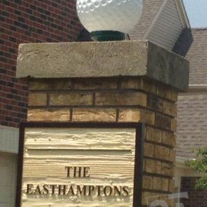 custom 12'' golf ball and sandblasted sign for condo complex