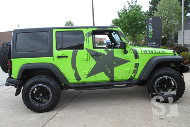 jeep wrangler custom willys package with od 3m matte vinyl super graphic