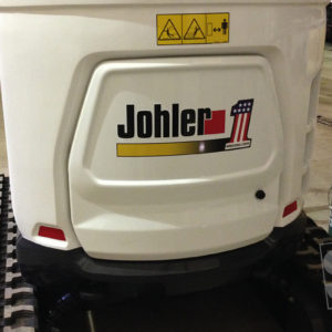 mini back hoe with digitally printed logo
