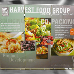 three part roll up banner stand package with nocure banner digitally printed